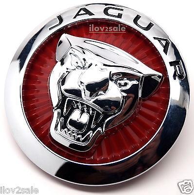 Jaguar Large Red Growler Front Grille Hood Emblem Badge Roundel for XF 85mm