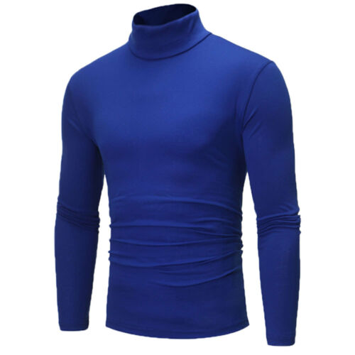 Men/'s Thermal High Collar Turtle Neck Skivvy Long Sleeve Sweater Stretch Shirts