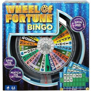 Wheel of Fortune Board Game Show Bingo Spin Me Mattel Toy