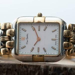 Pierre-Cardin-Chromachron-Swiss-Made-Vintage-Ladies-Two-Tone-Watch-HC2-MSQ