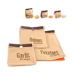 Image Is Loading 3 X Balvi Veggie Storage Bags For Potatoes