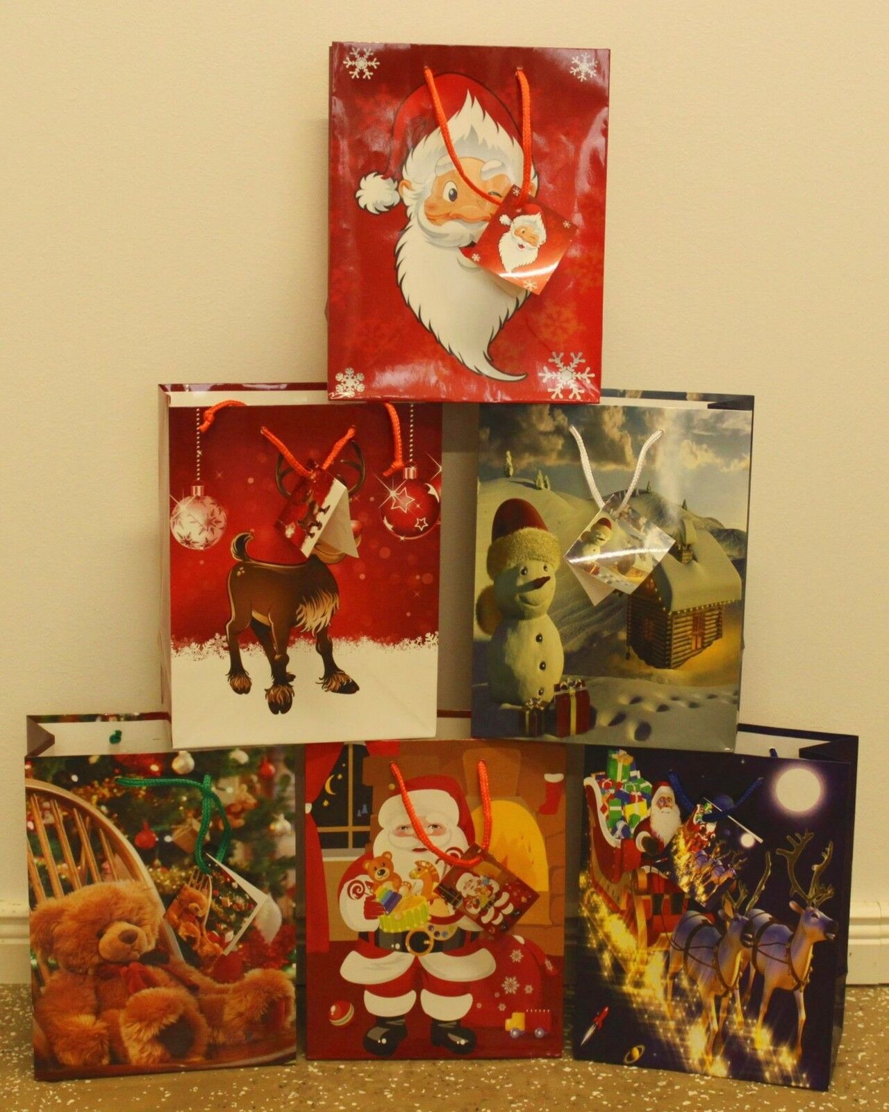 Geschenktüten 96 Stk Medium Weihnachtstüten Weihnachtsbeutel Weihnachtsbeutel Weihnachtsbeutel Geschenktaschen 748 | Stabile Qualität  2d9433