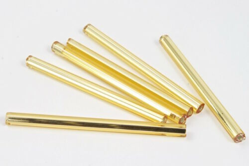 30mm Silver Lined Gold Bugle 40 grams #CBG009