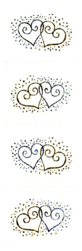 Reflections Hearts 3 Strips Mrs Silver /& Gold Grossman/'s Stickers