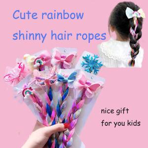 Bows-Hair-Bands-Girls-Mermaid-Bowknot-Headband-Hair-Tie-Kids-Long-Braid-Pigtails