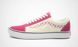 Vans-Comfycush-Old-Skool-Sidestripe-Check-Carmine-Rose-True-White-VN0A3WMAVNU