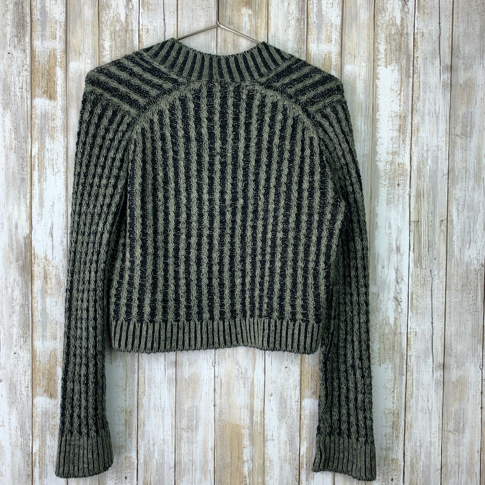 Inis Meain Linen Loose Knit Open Sweater Green Gr… - image 7