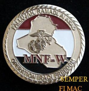 Details about # FALLUJAH RAMADI IRAQ OIF CHALLENGE COIN US MARINES NAVY  GIFT FMF USS PIN UP
