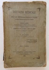 Livre-ancien-medecine-DAUDEL-Doctrine-medicale-deduite-de-la-metaphysique-pure