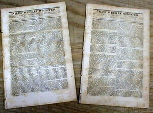 2 1828 newspapers w ELECTION of Democrat ANDREW JACKSON as PRESIDENT of the US