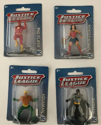 """LOT OF 4 New in Box MATTEL DC JUSTICE LEAGUE 3/"""" MINI FIGURES Free Shipping"""