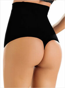 acdf76165c Image is loading High-Waist-Slimming-Shapewear-Briefs-Thong-Body-Shapers-