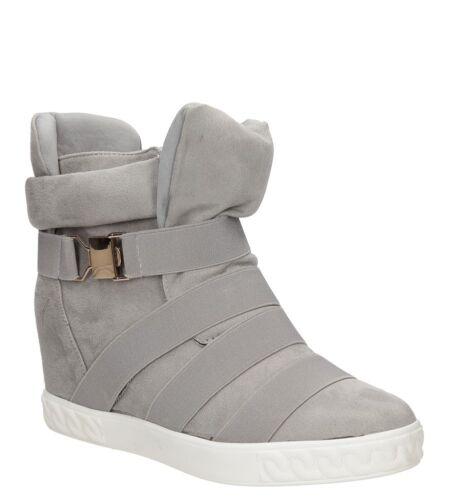 Damen Sneakers Keilabsatz Sport Schuhe Freizeit Frühling//Herbst Gr 36-41 NEU