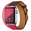 Leather-Watch-Band-Belt-Single-Double-Tour-for-Apple-Watch-Series-4-3-2-1 miniature 8