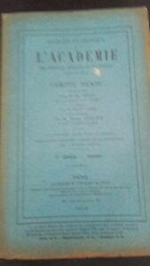 Revista Sesiones y Trabajo De L Academie Informe Diciembre 1913 París ABE
