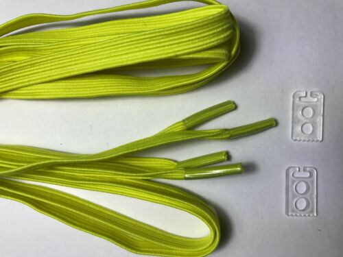 3 pairs No Tie Elastic Flat Shoe Laces strings for Running Sneakers Kids Adults
