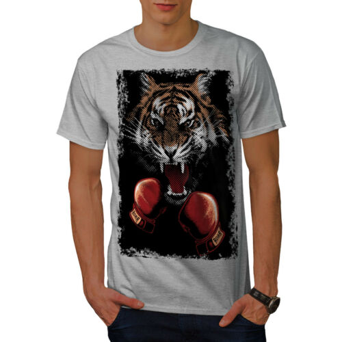 Wellcoda Tiger Boxer Gloves Mens T-shirt Combat Graphic Design Printed Tee
