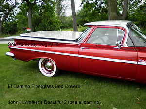 Details about Chevy El Camino Fiberglass Hard Shell Bed Cover Tonneau  Covers 1959-1960