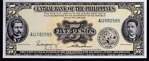 Philippines-1949-English-Series-5-Pesos-Magsaysay-Cuaderno-signed-Uncirculated