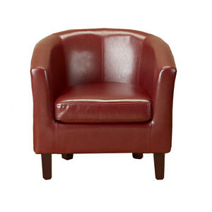 Modern-Red-Faux-Leather-PU-TubChair-Armchair-Dining-Room-Office-Lounge-Furniture
