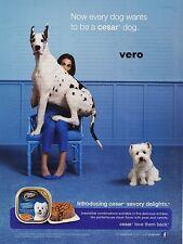 CESAR dog food 2012 Great Dane dog magazine ad print art clipping westie terrier