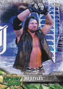 2017-Topps-Wwe-Road-To-Wrestlemania-Cartes-a-Collectionner-91-Aj-Styles