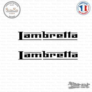2 lambretta decal stickers aufkleber pegatinas lam01 colors to choose