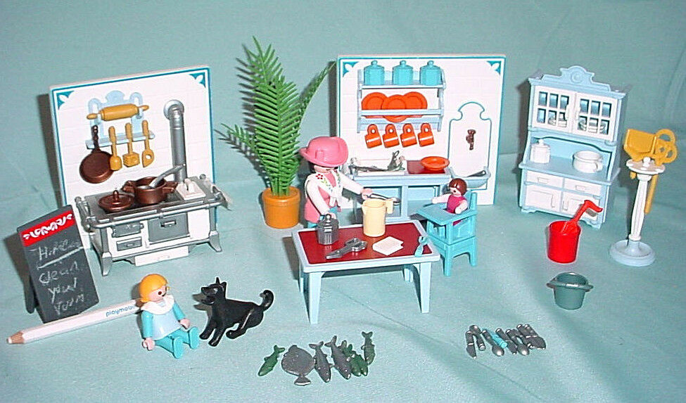 Playmobil Victorian Mansion Cuisinière Table de meubles  Dollhouse 5300 5305  livraison gratuite et échanges.