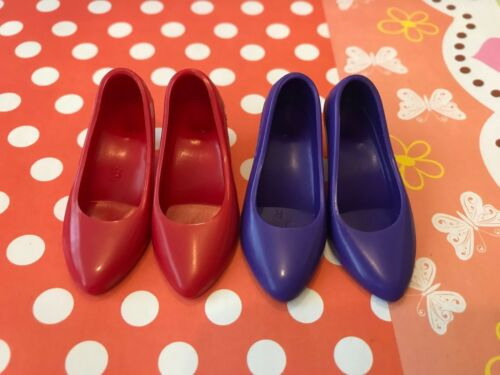 """2PAIRS Franklin Mint 16/"""" Red /& Purple color Heel Shoes NEW"""