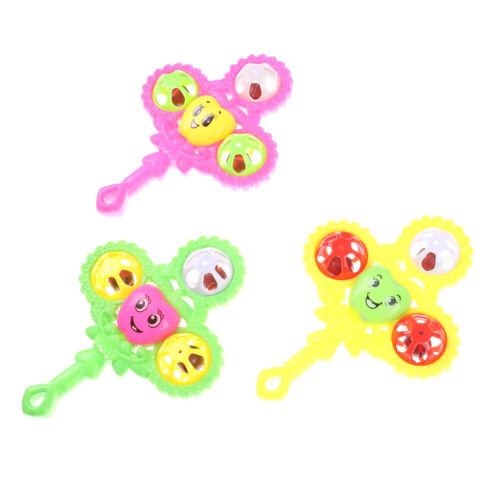 Kids Baby Design Handbell Musical Instrument Jingle Shaking Rattle Toy M/&C