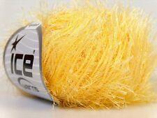 Light Yellow Eyelash Yarn Ice Fun Fur 50 gram 70 yards 22755