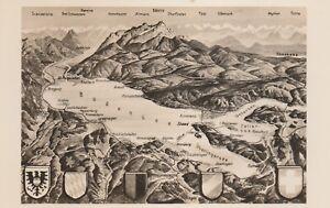 AK-MAP-Landkarte-Panoramakarte-DER-BODENSEE-s-w