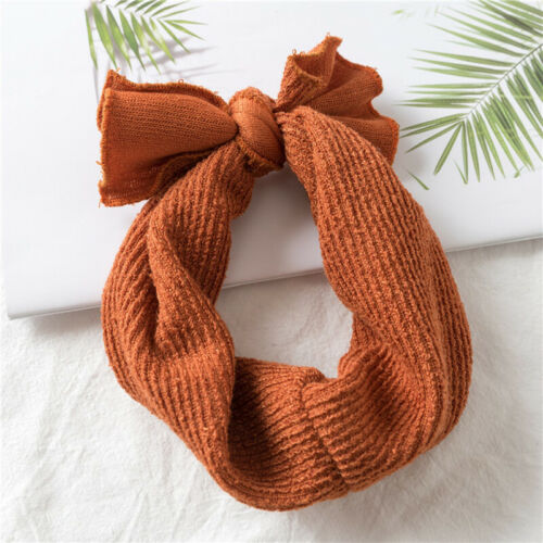 Toddler Baby Girls Knitted Turban Headband Hair Band Bow Accessories Headwear US