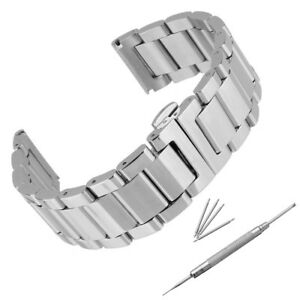 18-24mm-Acier-Inox-Bracelet-de-Montre-Boucle-Argente-Deployante-FR-FR1-Q
