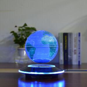 LED World Map Magnetic Levitation Floating Globe Night Light Home Office Decor D