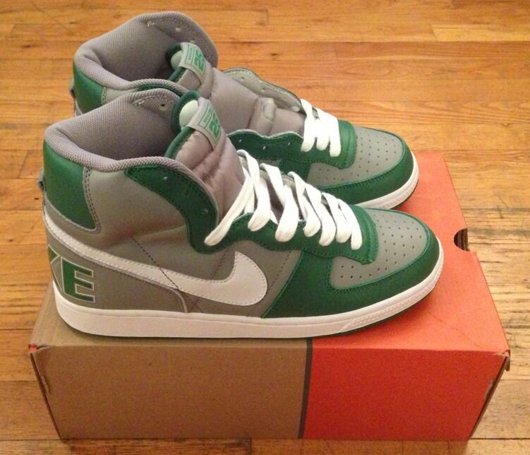 2004 Nike Terminator Hi Size 9.5 Boston 25 Deadstock Vintage Celtics Green Grey