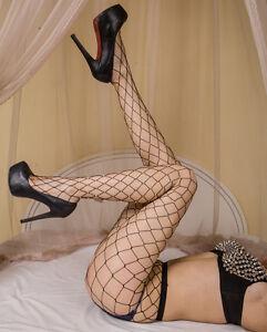 Women-039-s-Crystal-Fishnet-Elastic-Fishnet-Net-Pattern-Pantyhose-Tights-Stockings