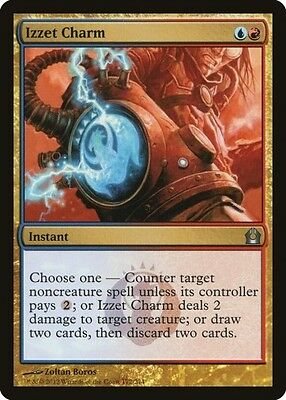MTG 4x IZZET CHARM - Return to Ravnica *Counter Damage Draw Discard*