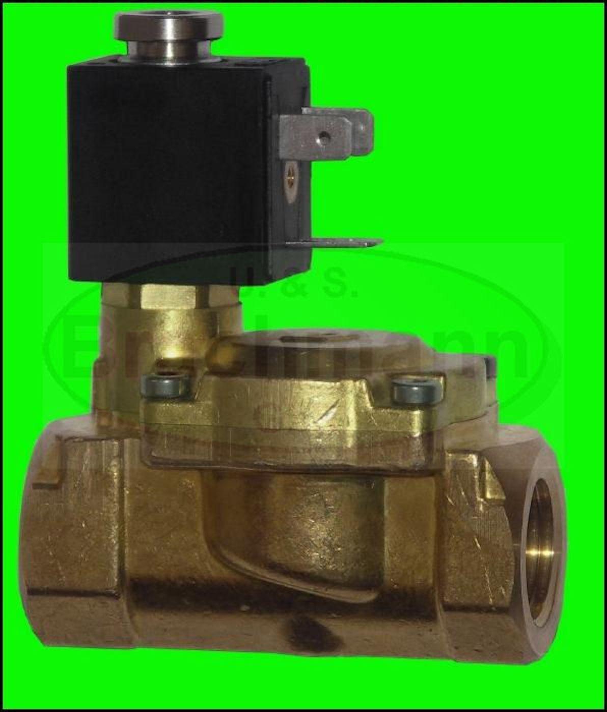 Magnetventil 1  Messing 12V 24V 230V 12bar NO NC OLAB Trinkwasser DVGW