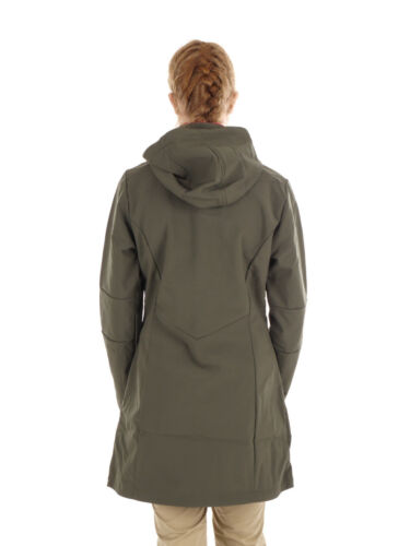 CMP Softshellmantel Jacke WOMAN COAT ZIP HOOD braun winddicht wärmend
