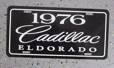 Black 1976 Cadillac ELDORADO license plate tag 76 Bicentennial Edition Caddy