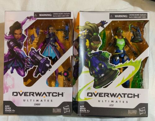 6-Inch Collectible Action Figure 2 Overwatch Ultimates Series Sombra, lucio