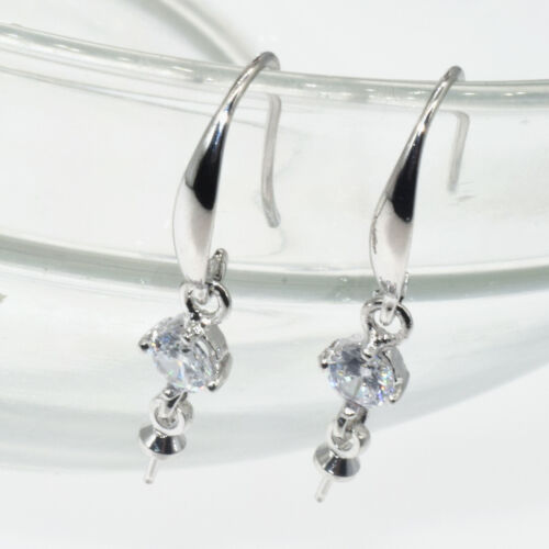 S925 Real Silver 18K Gold Filled Jewelry Earring Findings Pinch Bale Earwires E1