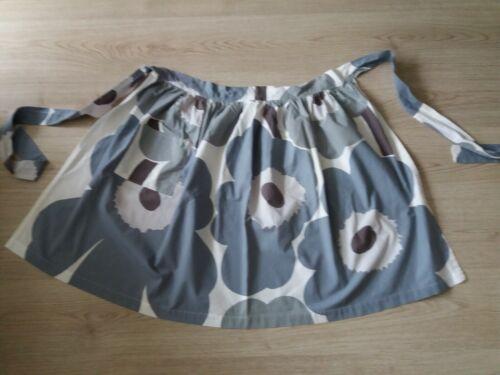 handmade MARIMEKKO UNIKKO fabric apron