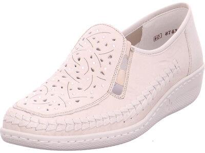 Rieker Damen Slipper gelocht oder geflochten weiß | eBay