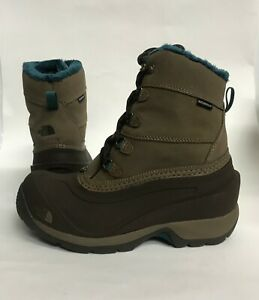 3d91cab1e2 New Womens Size 7 THE NORTH FACE CHILKAT III WATERPROOF BOOTS BROWN ...