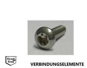 10 Stück M8X30 Linsenkopf Sicherheitsschraube Torx+Pin rostfrei A2