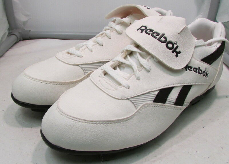 Vintage 1990's Reebok Diamond 100 Mens Cleated shoes – Size 13 – White