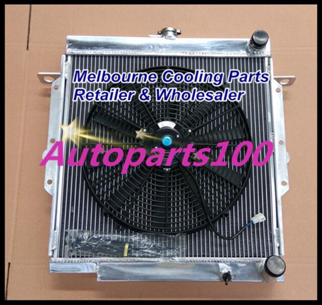 For Toyota Landcruiser Radiator & Fan 75 Series 2H Diesel HJ75 Aluminum