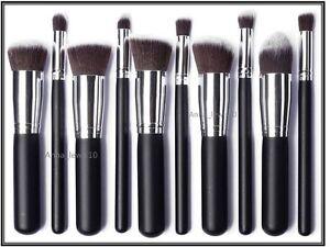 10-PCS-Professional-Make-up-Brush-Set-Foundation-Blusher-Face-Powder-Kabuki-UK